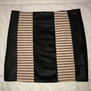 Very J • Faux Black Leather Mini Skirt